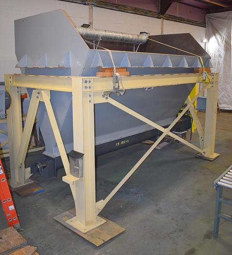Used bulk metering bin hopper weigh check with screw auger feeder