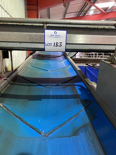 Used Stainless Steel Elevated Conveyor 6m L 0.9m W