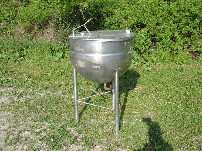 Used Stainless Steel Steam Jacketed kettle