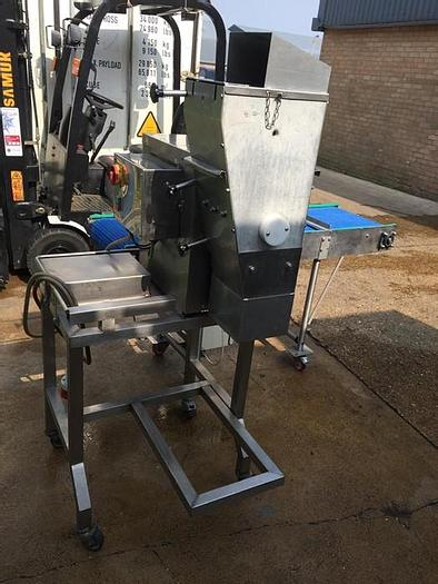 Used MEAT FLAKER WITH CONVEYOR
