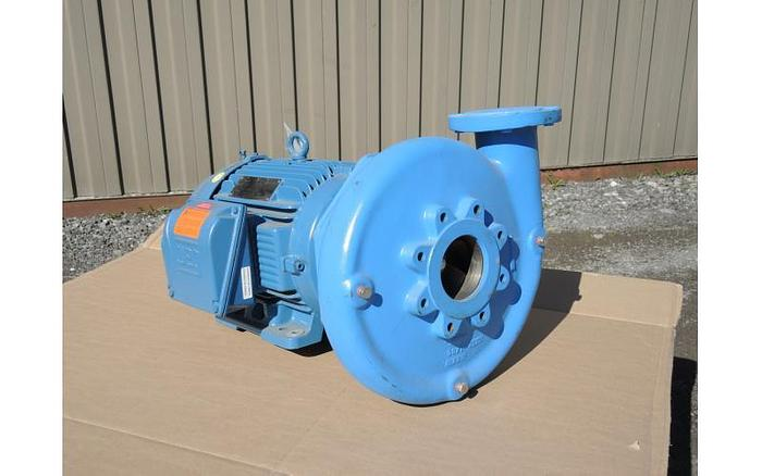 "Used USED GOULDS CENTRIFUGAL PUMP, 4"" X 3"" INLET & OUTLET, CAST IRON"