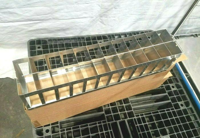 """Used 26"""" Cell Bank Stainless Steel Stack Trays Racks Pharmaceutical"""
