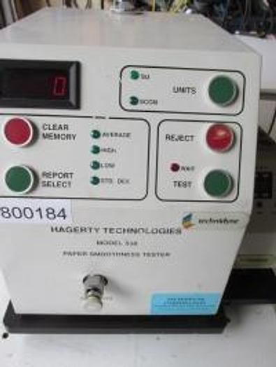 Used SHEFFIELD SMOOTHNESS TESTER HAGERTY  MDL 538
