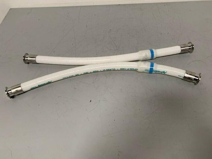 """Used AdvantaPure APSM-P-1000 2"""" x 32"""" Flexible Silicon Hose 150PSI"""