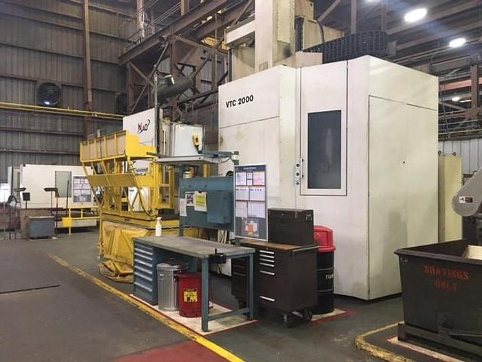 "Used 2012 Giddings & Lewis CNC Vertical Boring Mill, VTC 2000, 87"" Chuck, 95"" Swing, 120"" Under Rail, 100 HP, 1-200 RPM, Fanuc 31i CNC"