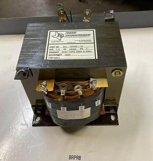 Used Texas Transformers CC1-07500-12 Dry Type 7.5 KVA Transformer 50/60 Hz Warranty!