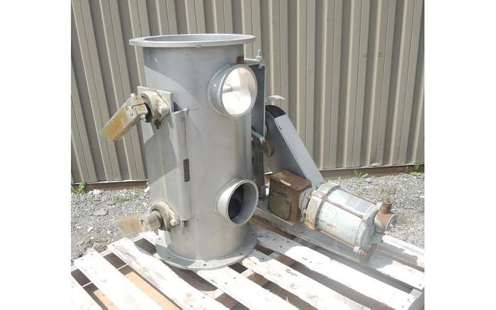 "USED ROTARY AIR LOCK VALVE, SIZE: 12"" DIAMETER, STAINLESS STEEL"