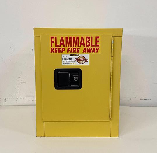 "Used JustRite 4 Gallon Flammable Cabinet 17""x 17""x 22"" Manual Close"