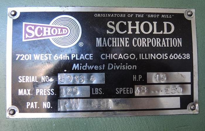 USED SCHOLD DISPERSER, 20 HP, VARIABLE SPEED