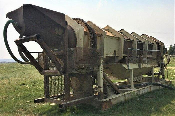 Used 2014 CUSTOM BUILT 4' X 30' Trommel - Aggregate and Fine Gold Recovery Wash Trommel