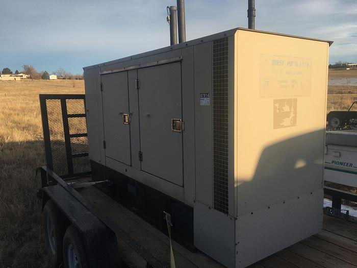 Used 2006 Perkins 75 kW Generator w/ New 2020 Trailer AB Genset 1D075PNBCU