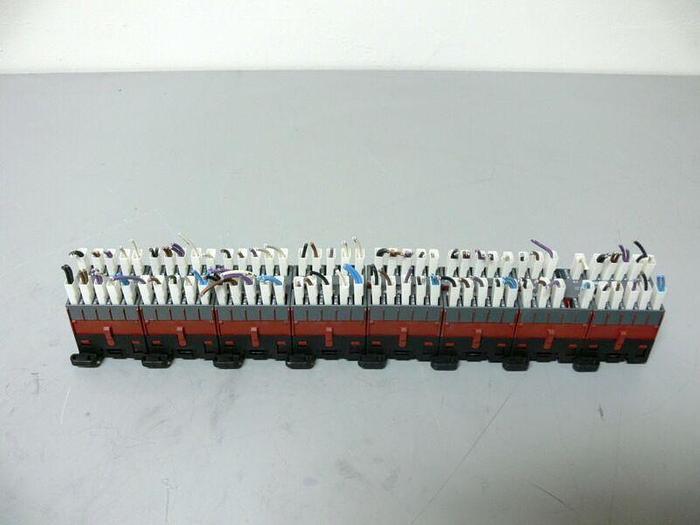 Used Lot of 8 ABB Mini Contactors on DIN Rail B6-30-01-F (x4) & B6-40-00-F (x4)