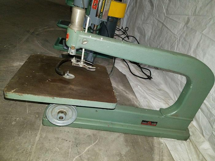 Used Power King HEAVY DUTY Jig Saw Model 4010 Needs a drive motor MADE IN USA