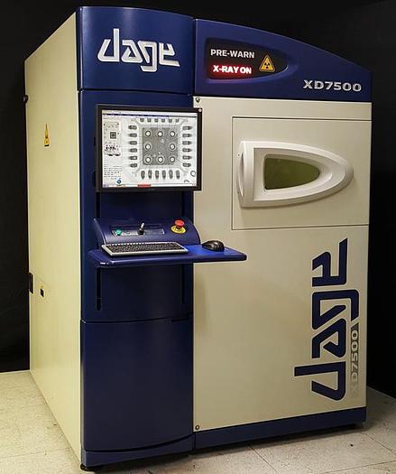 Used 2005 DAGE  XD 7500  TR Open Tube 160KVa PCB BGA X-Ray machine