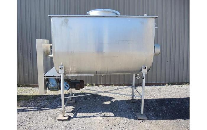 USED PADDLE BLENDER, 75 CUBIC FEET, STAINLESS STEEL, JACKETED
