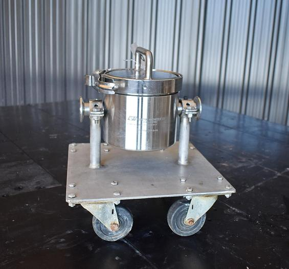 "Used USED BUNTING MAGNETICS, 2"" FOOD GRADE LIQUID MAGNET TRAP, STAINLESS STEEL"