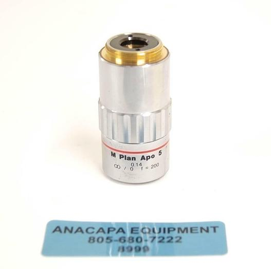 Used Mitutoyo 378-802-2 M Plan Apo 5 x 0.14 Microscope Objective USED (8999) R