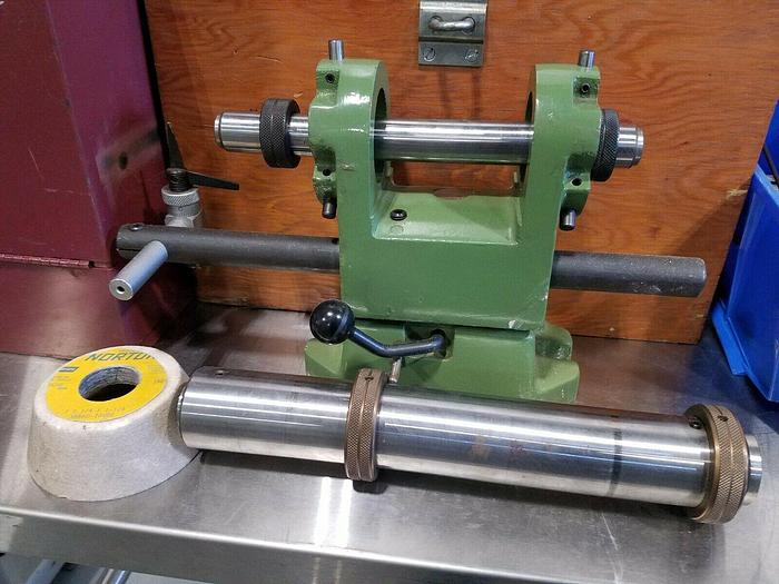 Used NEW Endmill / Drill Sharpening Unit with case to be used with a surface grinder