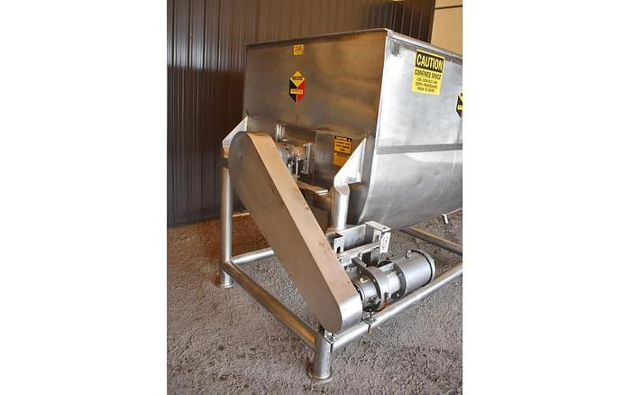 USED RIBBON BLENDER, 100 CUBIC FEET, STAINLESS, STEEL, JACKETED