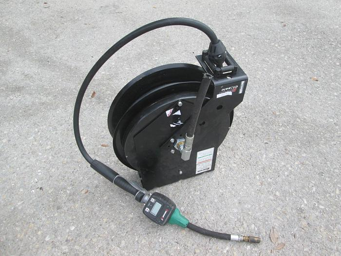 Used Balcrank Oil Hose Reel With Digital Meter