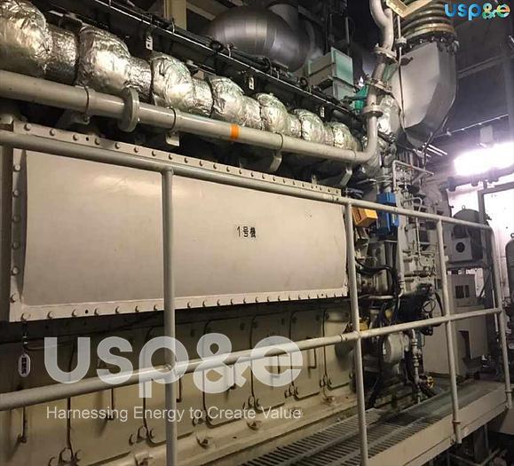 Used 1.4 MW 2005 Used Niigata 8L22AG Natural Gas Generator