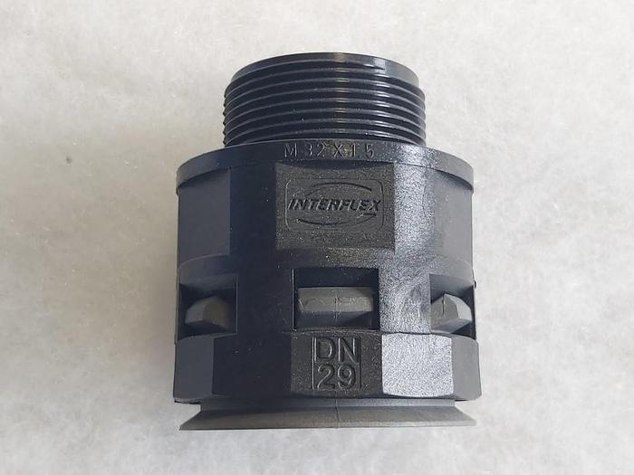 30 Stk. Gerade Verbindungsstücke, DN29 / M32 x 1,5, Interflex / Racor,  neu -60%