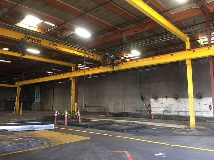 Used Demag Facilities Engineering Bridge crane 50x100x25 tall