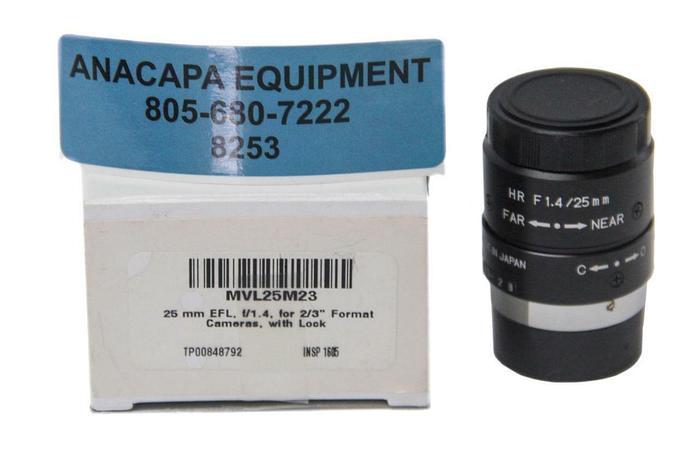 ThorLabs Navitar MVL25M23, 25mm EFL, F/1.4, Microscope Objective New (8253)W