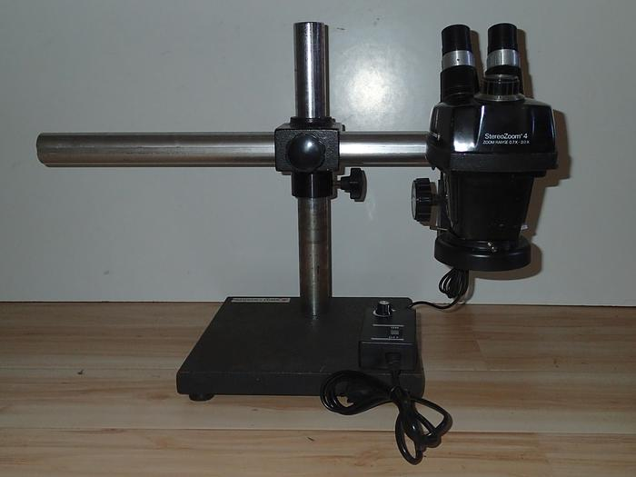 Bausch and Lomb Stereo Zoom 4 microscope with boom stand