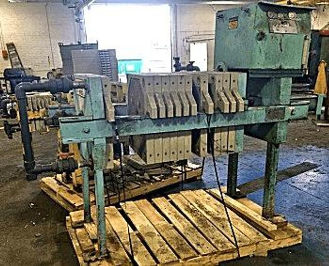 Used 3 CU. FT. SHRIVER/EIMCO FILTER PRESS – POLYPRO – 630 MM AUTOMATIC CLOSURE