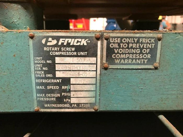 FRICK R717 Ammonia Refrigeration Rotary Screw Compr RWB II Plus