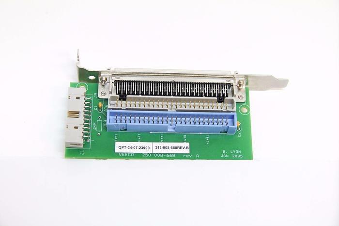 Used Veeco 250-008-668 Rev. A Connection Board PC Board PCB (4220)