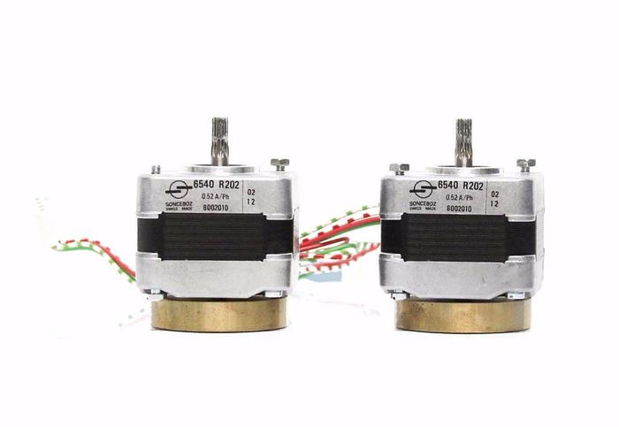 Used Sonceboz 6540 R202 6540R202 Mini Stepper Motor 8002010 Gear Shaft, Lot of 2 5365