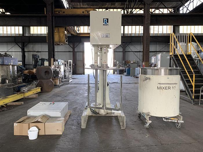 Used 200 GALLON ROSS MULTI-SHAFT MIXER - MODEL CDA-200 - S/S - VACUUM - JACKETED