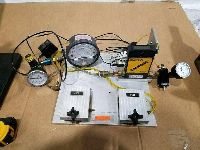 Used Aalborg Mass Flow Meter GFM 1700 Gas Test Flow Gauge