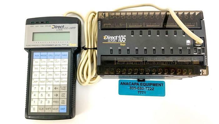 Used Automation DirectLogic D2-HPP DL205 RLL Handheld Programmer DL105 Koyo (7771) W