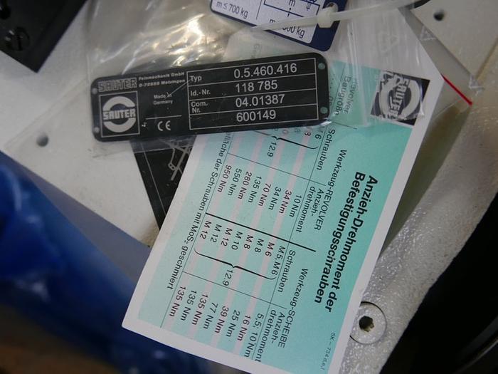 Werkzeugrevolver Sauter TYP 0.5.460.416, ID.NR. 118785