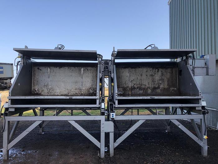 Used Tong double box tipper with cross conveyor