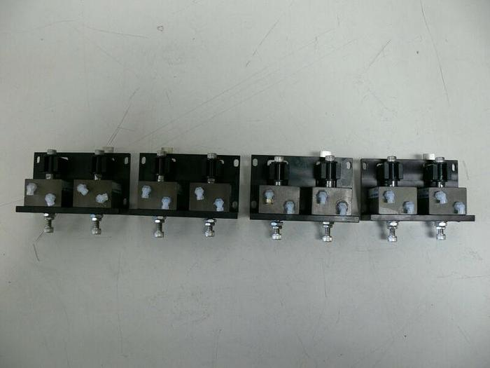 Used Lot of 8 Fabco Air FPS-1614 Actuator Index Assembly Cylinders on Mounting Plates