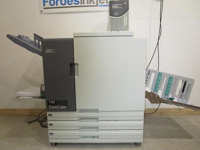 Used Riso ComColor 7150 X1 Full Color Printer with IS950C RIP Print Controller and Wide Stacking Tray