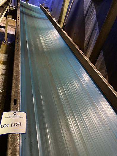 Used Stainless Steel Conveyor Belt 7m L 0.7m W