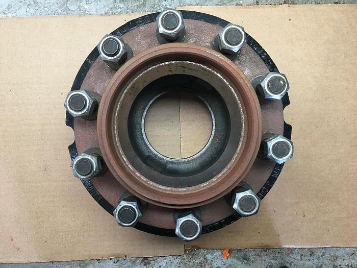 "GOOD USED WEBB 10519--MR LOWBOY TRAILER WHEEL HUB 10 STUD 8.75"" BOLT CIRCLE"