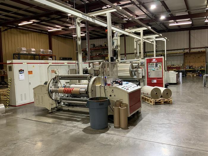 """Used 50"""" COMEXI SOLVENTLESS LAMINATOR 32"""" DIAMETERS - STILL INSTALLED"""