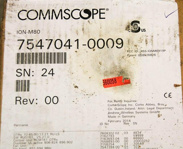 Used Commscope 7547041-0009 ION-M80 XS5-IONM8919P Optical Remote Unit USED (6988) R