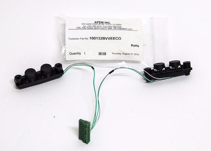 APEM INC. Button Switch Strip 100-132BV Input Device 2 Button Strip (5348)