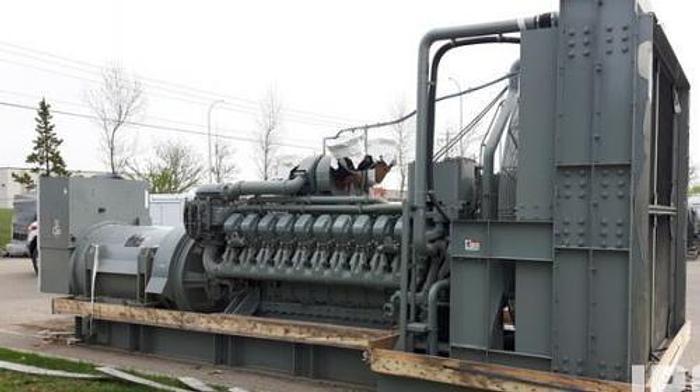 3 MW 2012 New MTU 20V4000G83L Diesel Generator Set
