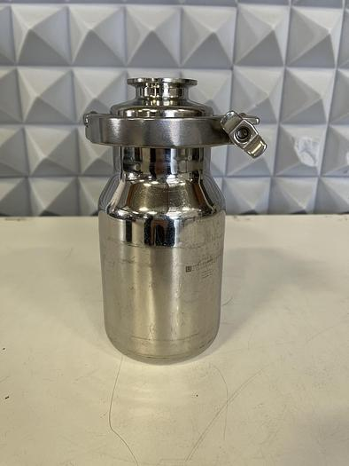 """Used Eagle Stainless Container  BTB-10 SS 1L Vessel w/ 3"""" to 1.5""""  Reducer, Clamp"""