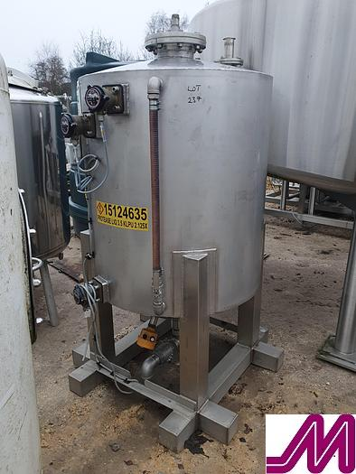 Used Stainless Steel Enclosed Tank Circa 600 Litre Capacity