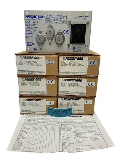 Power-One International Series HTAA-16W-A DC Power Supply New Lot of 6 (6689)W