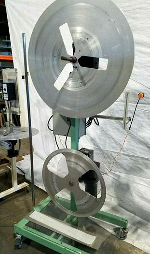 Used Rapid Motorized Double Reel paper Inter-Leaf Stock Coiler Payoff Stamping Feed